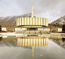 Provo Temple - Reflecting Pool by Ryan Houston