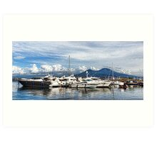 Vesuvius and Naples Harbor - Mediterranean Impressions Art Print
