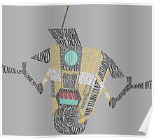 Clap Trap Steward Bot Word Art  Poster