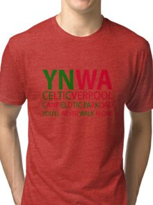 Liverpool-Celtic You'll Never Walk Alone Tri-blend T-Shirt