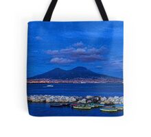 Blue Night in Naples - Mediterranean Impressions Tote Bag