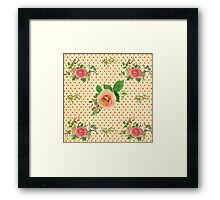 Floral,vintage,roses,victorian,cute,pattern,coral,pink,girly,trendy Framed Print