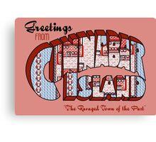 Greetings from Cinnabar Island Canvas Print