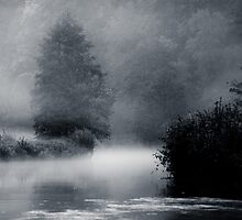 foggy river by JendrikW