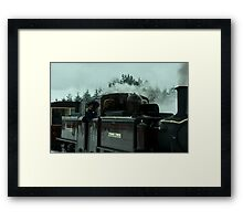 Stepping into the past 3 - in colour Framed Print