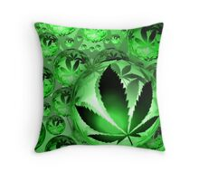 The Cannabis Bubble Original  Throw Pillow