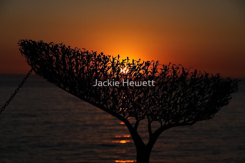 Sunrise through Sculpture - Bondi Beach by Jackie Hewett