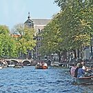 On the Canal in Amsterdam by Graeme  Hyde