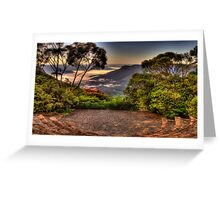 Natures Amphitheatre - Blue Mountains World Heritage Area - The HDR Experience Greeting Card