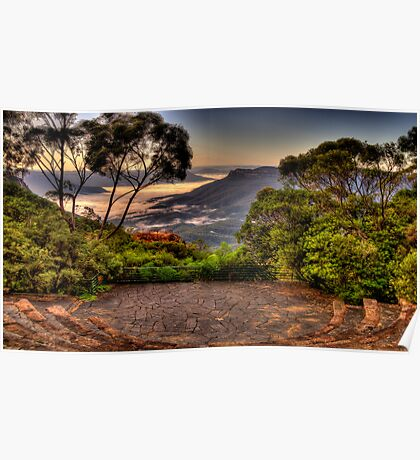 Natures Amphitheatre - Blue Mountains World Heritage Area - The HDR Experience Poster