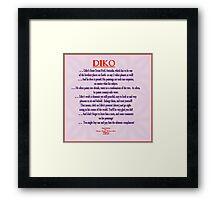 FEATURED ARTIST: DIKO Framed Print