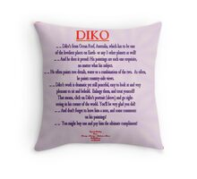FEATURED ARTIST: DIKO Throw Pillow
