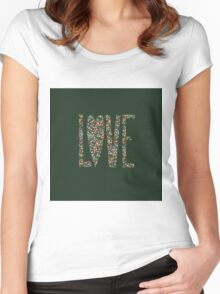 Love Flowers Floral Design Women's Fitted Scoop T-Shirt