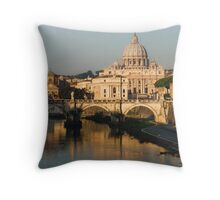 St Peter's Morning Glow - Impressions Of Rome Throw Pillow