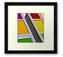 Colours of the rainbow - Joondalup Campus ECU, Perth, Western Australia Framed Print