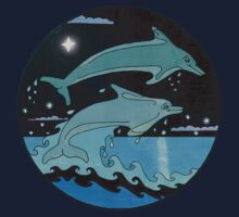 Dolphin`Leap for the Stars II' Tee Shirt by sharpie