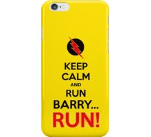 RUN BARRY RUN (The Reverse)! iPhone Case/Skin