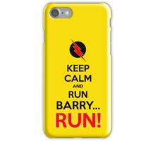 RUN BARRY RUN (The Reverse)! iPhone Case/Skin