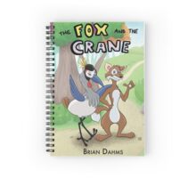 The Fox and the Crane Spiral Notebook
