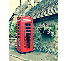 Red Telephone Box in England Photographic Print
