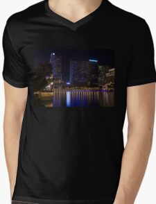 Cosmopolitan Vegas Reflections Mens V-Neck T-Shirt