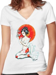 Koi Women's Fitted V-Neck T-Shirt