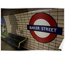 Baker Street Station London Underground Poster