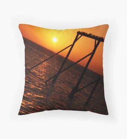 Sunset - Heron Island, QLD Throw Pillow