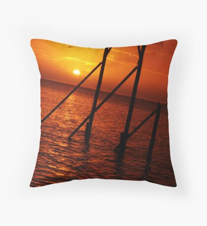 Sunset - Heron Island Throw Pillow