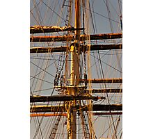 Sunset Rigging Photographic Print