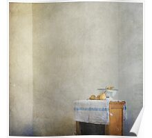 pears on blue Poster