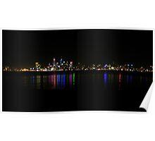 perth city nightscape 2 Poster