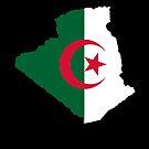 Algerian Flag Map by Omar Dakhane