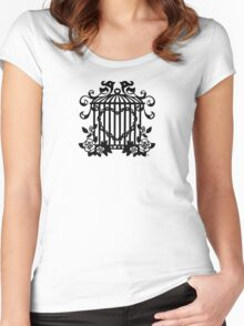 Captured Heart - Black Women's Fitted Scoop T-Shirt