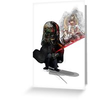 """ Lord Vader Reminiscing"" Greeting Card"