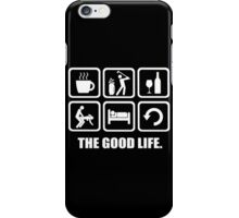 Coffee Golf Wine Sex Sleep Repeat The Good Life iPhone Case/Skin
