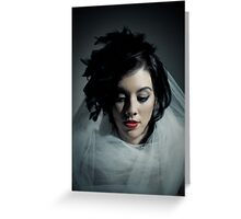 Classic Beauty with Cool Tones Greeting Card