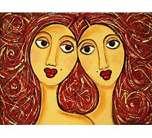 Red Heads Photographic Print