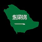 Saudi Arabia Flag Map by Omar Dakhane