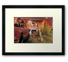Multi Colored Rust   ( BoneYard Series ) Framed Print