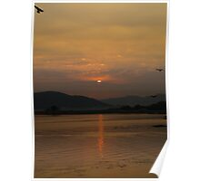 Sunset over Lake Pichola Poster