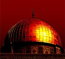 Dome of the Rock (Red) by ummahapparel