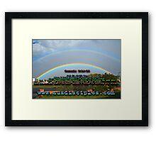 Genesis 9:14-15 Rainbow Sky Framed Print