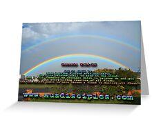 Genesis 9:14-15 Rainbow Sky Greeting Card