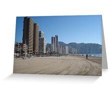 Benidorm Beach Greeting Card