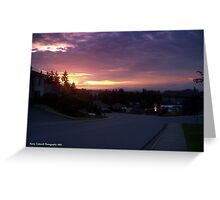 Kenwill Drive Sunset Greeting Card