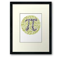 Not So Colorblind Pi Framed Print