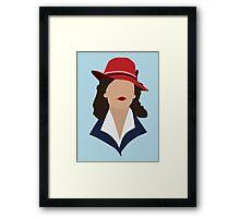 Agent Carter Minimalist Framed Print