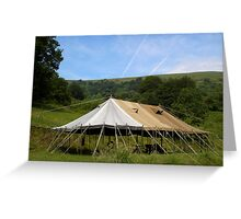 Lone Tent Greeting Card