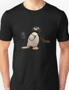 Pingu listening to music Unisex T-Shirt